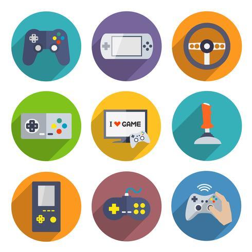 Videogames Controller Icons Set vector