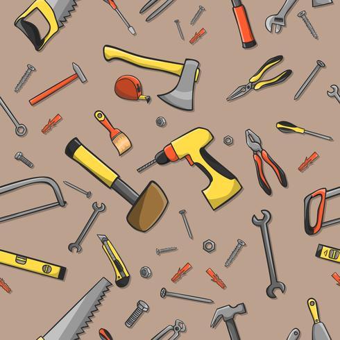 Carpenter tools naadloze patroon vector