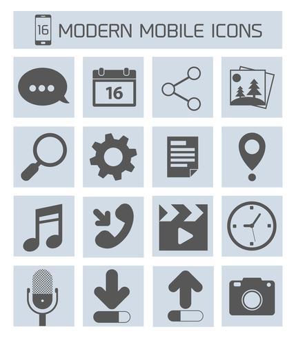 Mobiele applicaties pictogrammen vector