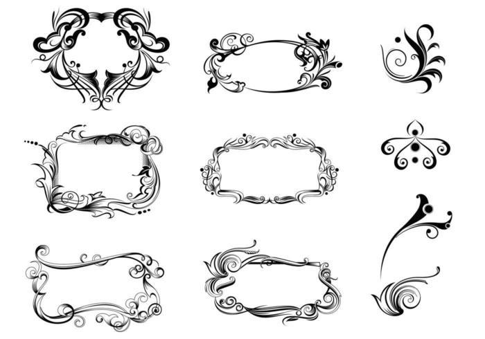 Decoratief Ornament Vector Pakket