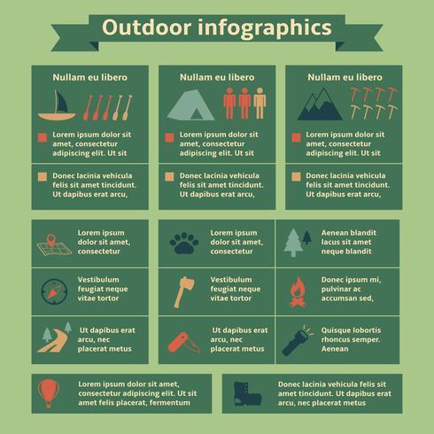 Outdoor reizen Infographic elementen vector