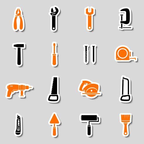 Verzameling gereedschapskist stickers vector