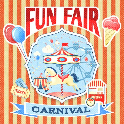 Vintage carnaval poster sjabloon vector