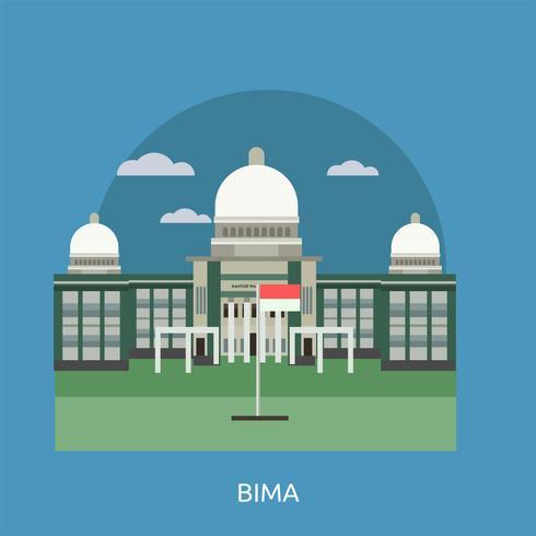 Bima Conceptueel illustratieontwerp vector