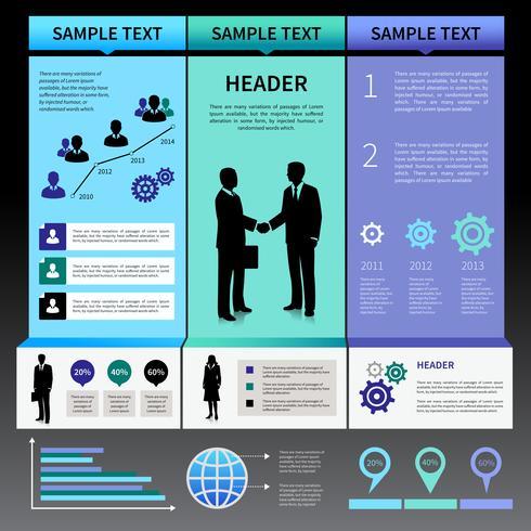 Infographics presentatie lay-out sjabloon vector