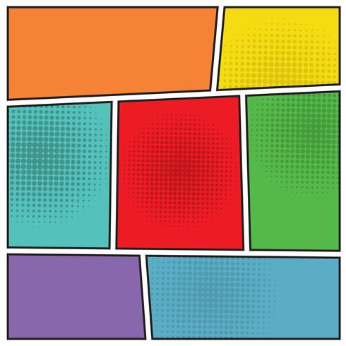 Strips popart lege lay-out vector