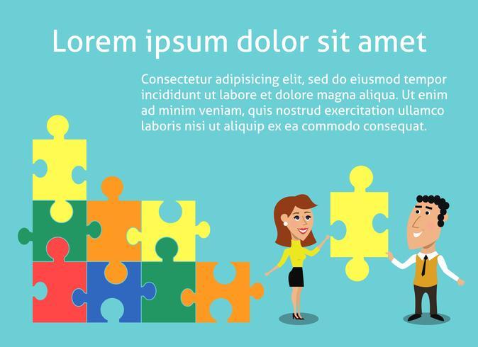 Bedrijfsconcept teamwerk vector