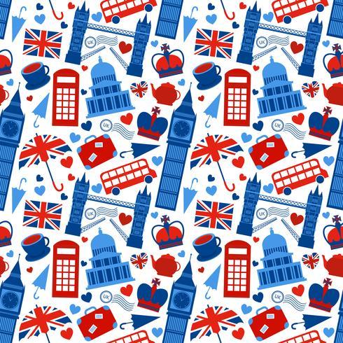 Naadloze patroonachtergrond met Londen vector