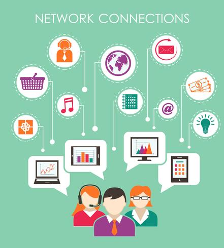 Sociaal netwerkverbinding concept vector