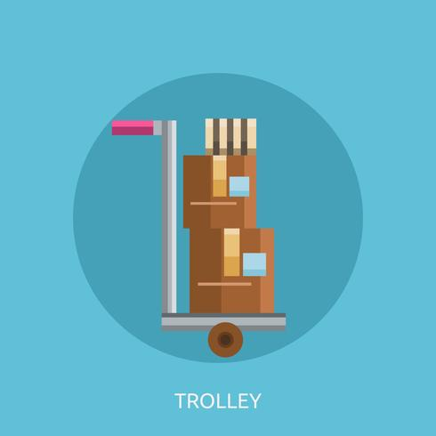 Trolley Conceptuele afbeelding ontwerp vector