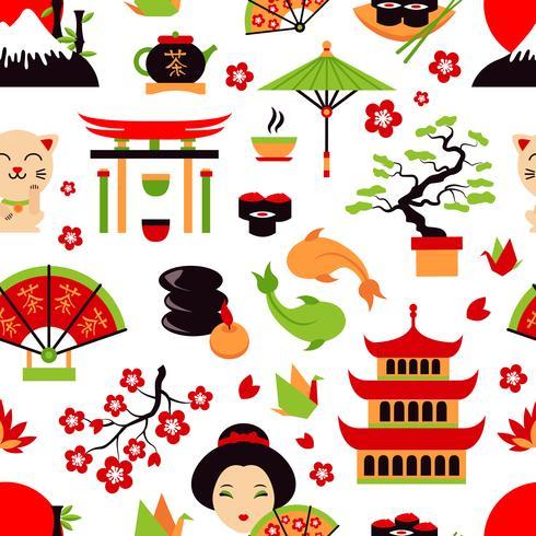 Japan naadloze patroon vector
