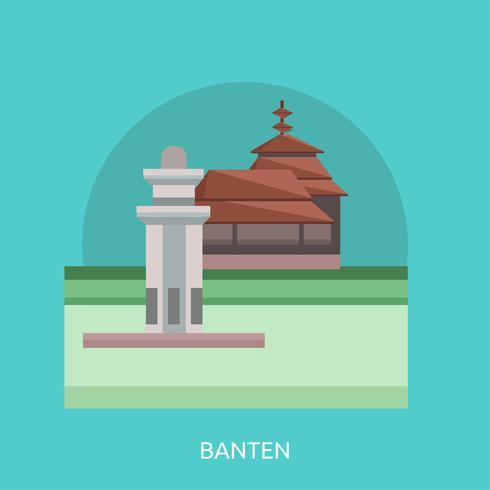 Banten Conceptueel illustratieontwerp vector