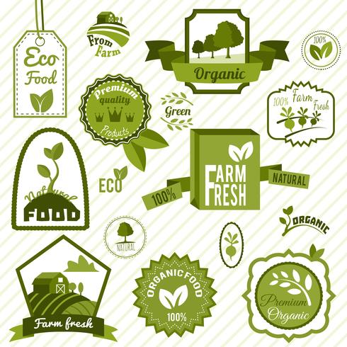 Groene eco-labels vector