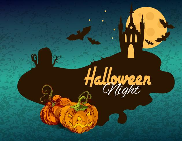 Halloween gekleurde achtergrond vector