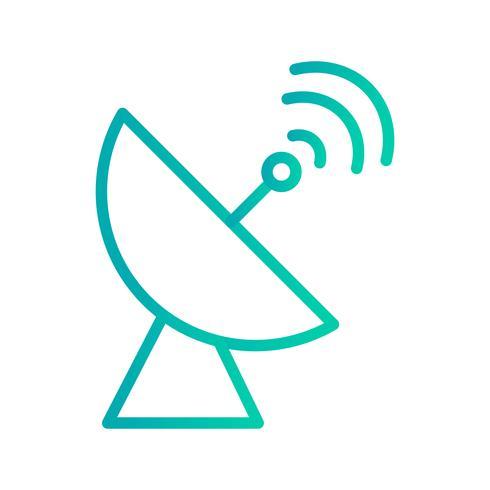 Satellietgerecht Vector Icon