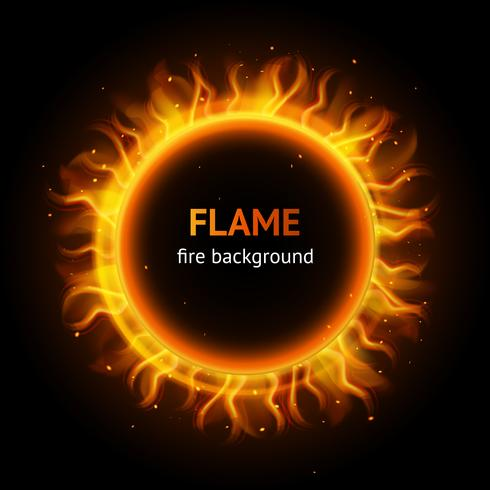 Vlam cirkel achtergrond vector