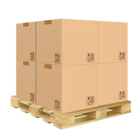 Kartonnen doos geïsoleerd vector