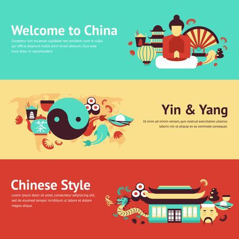 China banner set vector