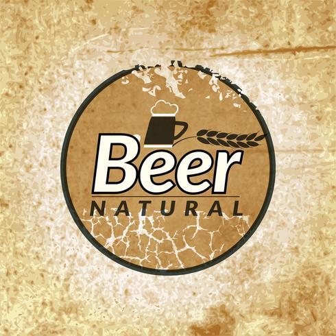 Bier vintage label vector