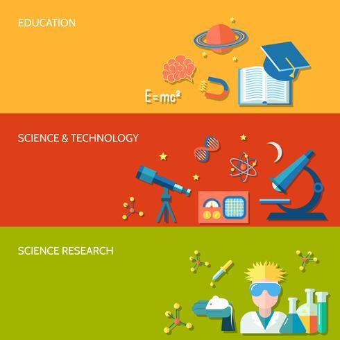 Wetenschap en onderzoeksbanner vector