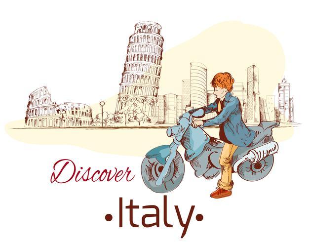 Ontdek de poster van Italië vector