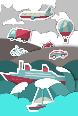 Transportpapier achtergrond vector