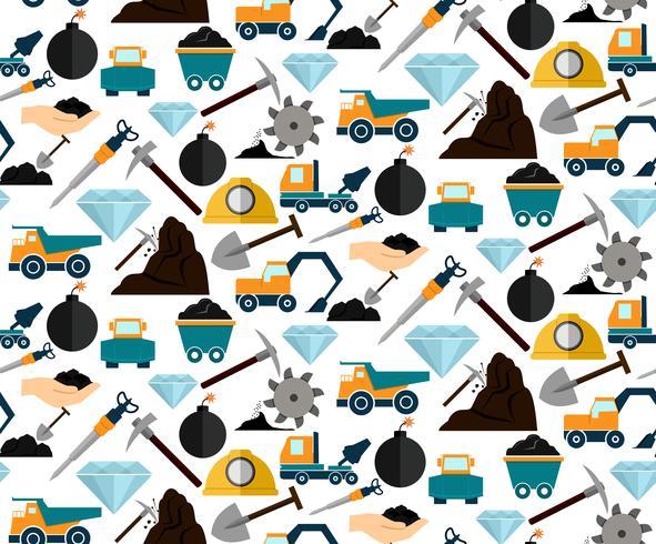 Mijnbouw naadloos patroon vector