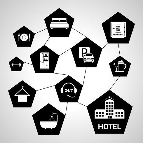 Hotel diensten concept vector