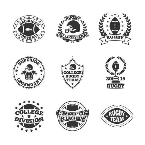 Honkbal labels pictogrammen instellen vector