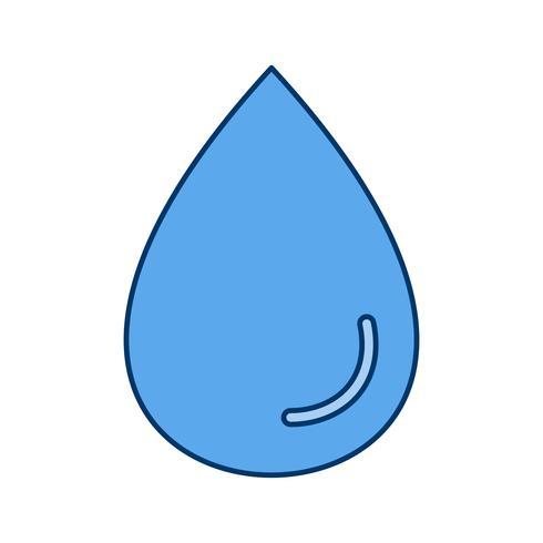Regen Drop Vector Icon