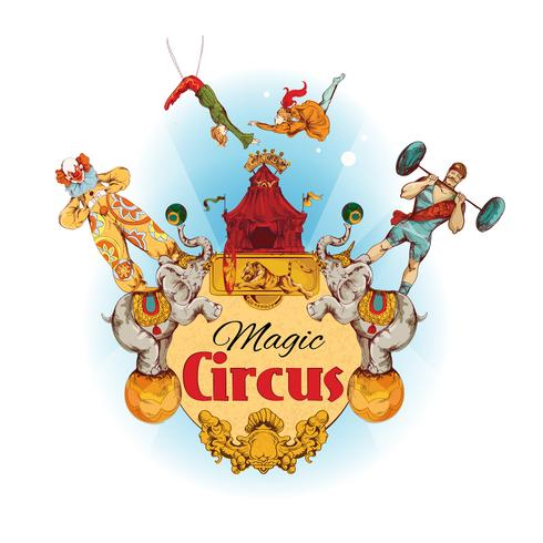 Circus gekleurde achtergrond vector