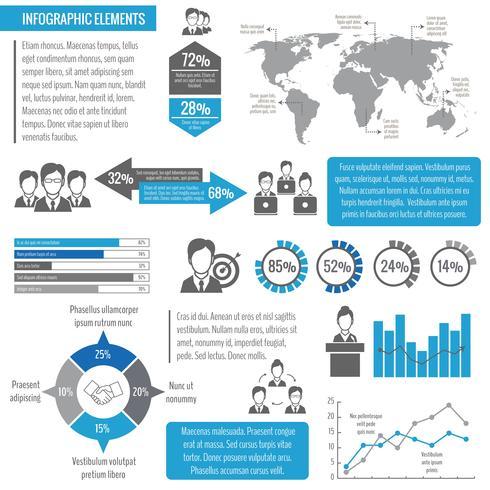Teamwerk zakelijke infographic vector