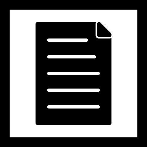 Vector documentpictogram