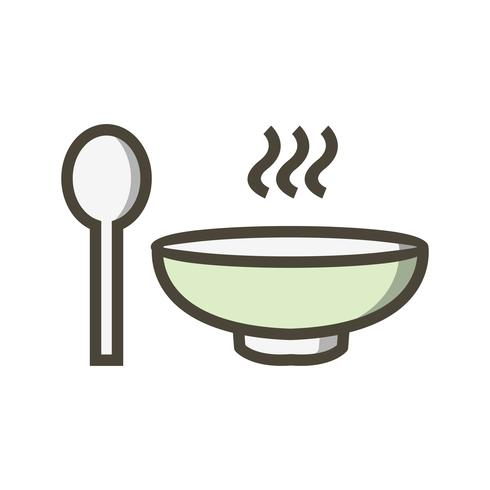 Vector soep pictogram