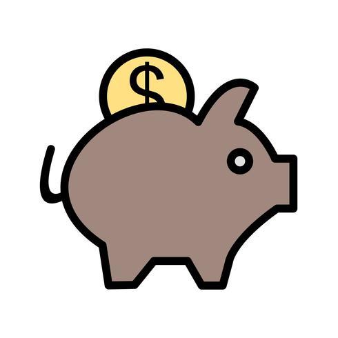 Vector Piggy Bank pictogram