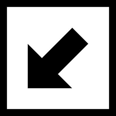 Vectorpictogram links naar beneden vector