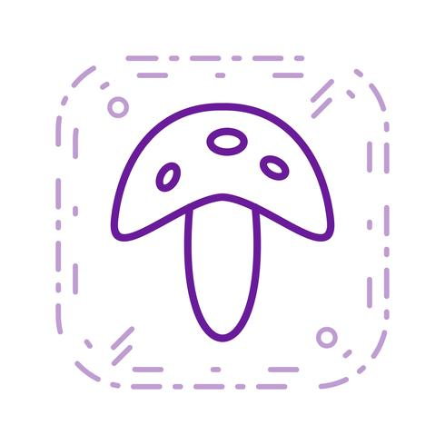 Vector paddestoel pictogram