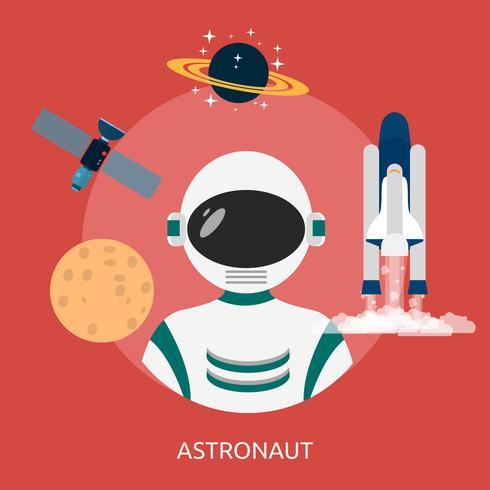 Astronout Conceptueel illustratieontwerp vector