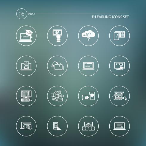 E-learning pictogram wit vector