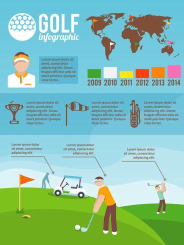 Golf infographics instellen vector