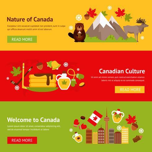 Canada banner instellen vector