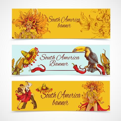 Zuid-Amerika banners instellen vector