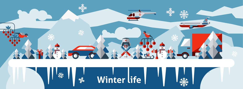 Winter leven achtergrond vector