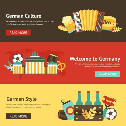 Duitsland banner set vector