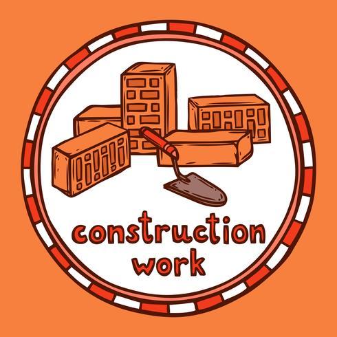 Architect bouwconstructieschets vector