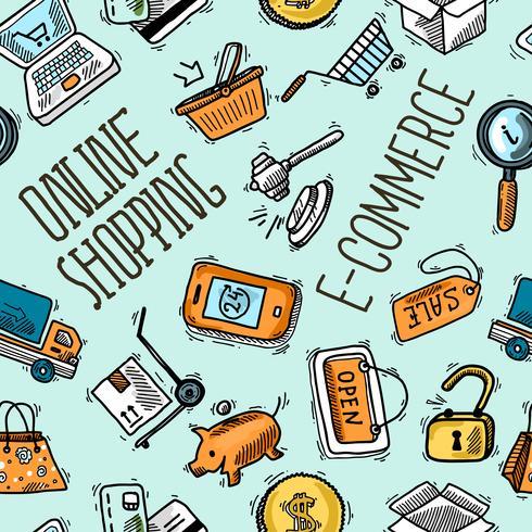 Online winkelpatroon vector