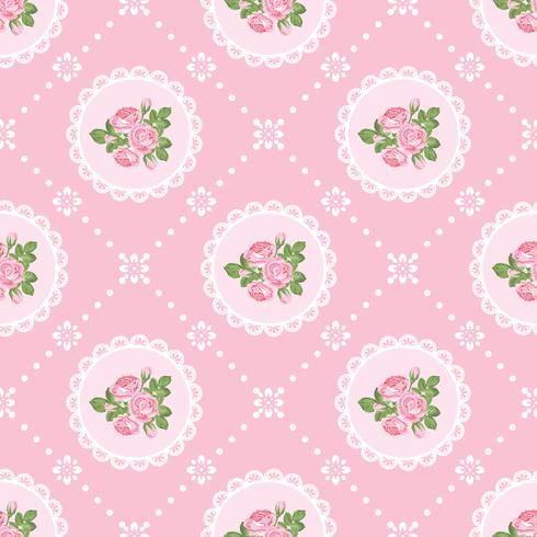 Shabby chic steeg naadloze patroonachtergrond vector
