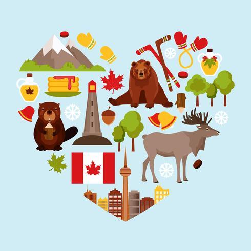 Canada decoratieve set vector