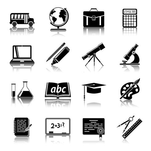 Onderwijs pictogrammen instellen vector