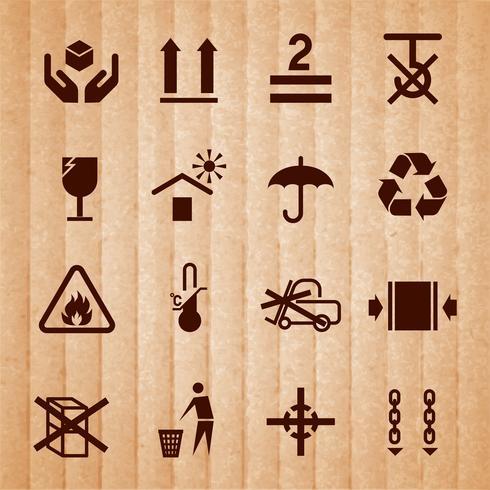 Omgaan met en verpakken van symbolen vector